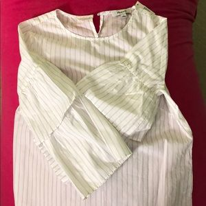 NWT madewell white striped top